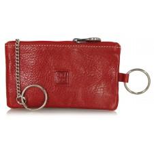 Portachiavi pelle zip portamonete pochette Rosso