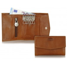 Portachiavi portafoglio 6 ganci Castagno
