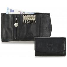 Portachiavi portafoglio 6 ganci Nero