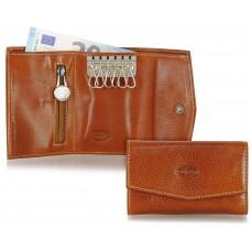 Portachiavi portafoglio 6 ganci Cognac