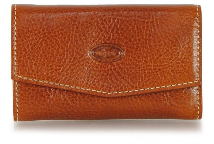 Keyring wallet 6 hooks Cognac