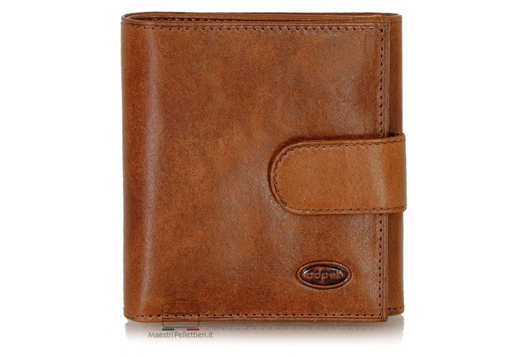 Women's wallet small with coinpurse in Vegetable leather Brown