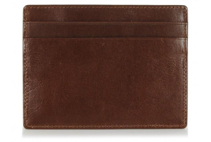 Ausweisetui kreditkartenetui aus leder 4 kk + 3 fächer Braun/Cognac
