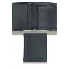 Portafoglio uomo mini portamonete 3cc in pelle saffiano Blu