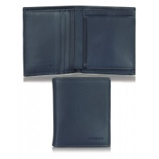 Portafoglio uomo mini portamonete 3cc in pelle Blu