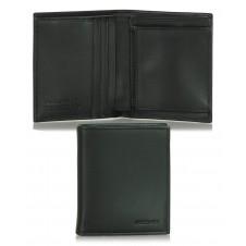 Portafoglio uomo mini portamonete 3cc in pelle Nero