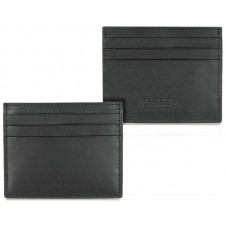 Card Sleeve slim wallet, soft leather color Black
