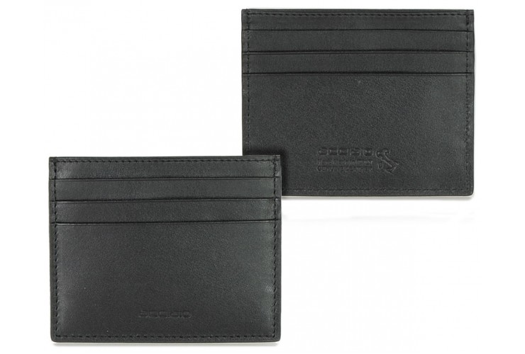 Card Sleeve slim wallet, soft leather color Black