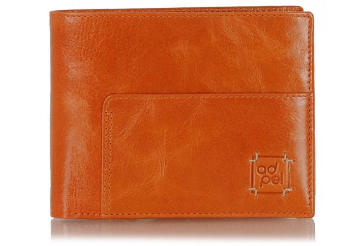 Portafoglio uomo in pelle documenti identità 8cc Arancio