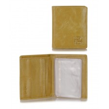 Portafoglio portacard da taschino in pelle 8+12cc Beige/Sesamo