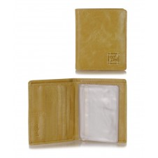 Men's small wallet full-leather multiple cards Beige/Sesame