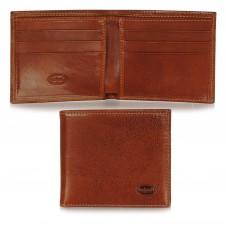 Men's small pocket wallet, 6 cards - Italian vegetable Cognac/Mauileather