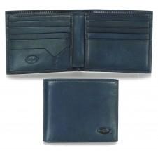 Herren kleine Portmonee 8 Kreditkartenfächer, pflanzlich gegerbt leder blau