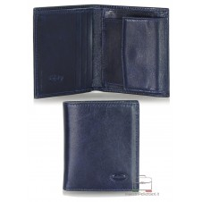 Men's mini wallet coin purse in Italian vegetable leather Blue