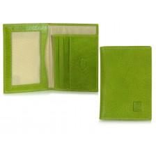 Portafoglio Portadocumenti da taschino pelle Vegetale Verde