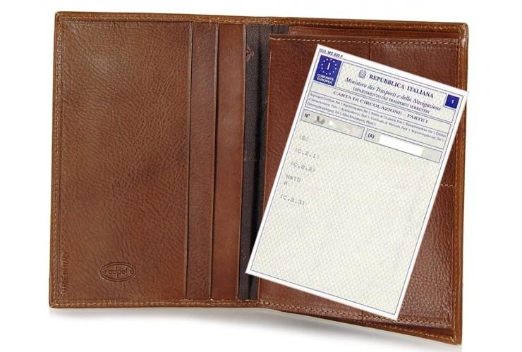 Porta Documenti auto a soffietto 2cc pelle Toscana Vegetale 16.8cm