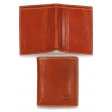 Portafoglio portacard da taschino in pelle 8+12cc Arancio
