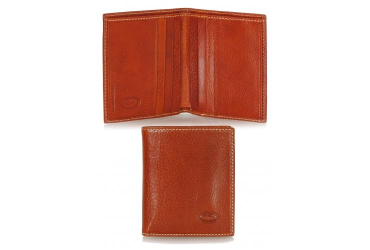Men's small wallet full-leather multiple cards Orange