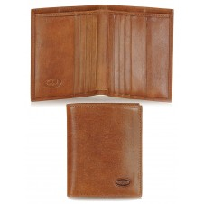 Men's small wallet full-leather multiple cards Brown
