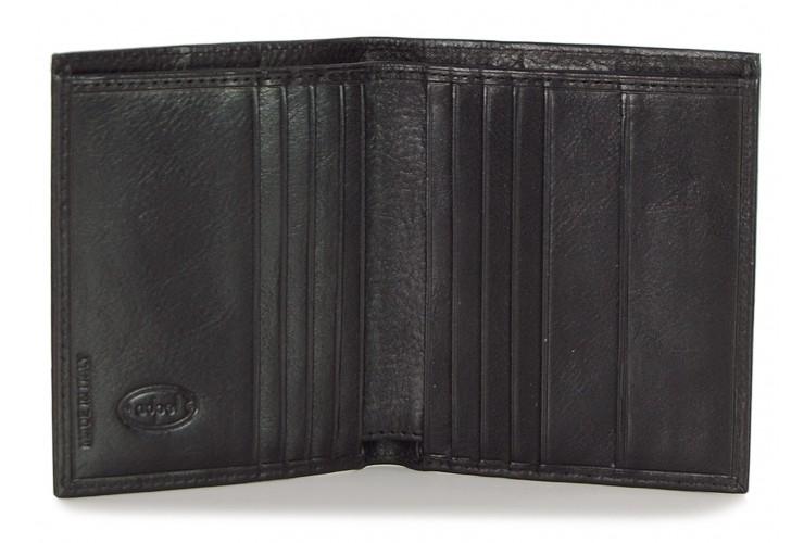 Portafoglio portacard da taschino in pelle 8+12cc  Nero