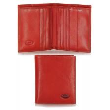 Portafoglio portacard da taschino in pelle 8+12cc  Rosso