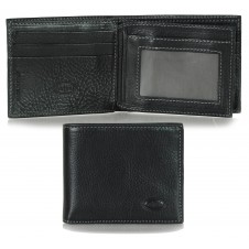 Men's small pocket wallet, 13 cards - Italian vegetable black leather
