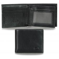 Herren mini Portmonee 13 Kreditkartenfächer, pflanzlich gegerbt leder schwarz