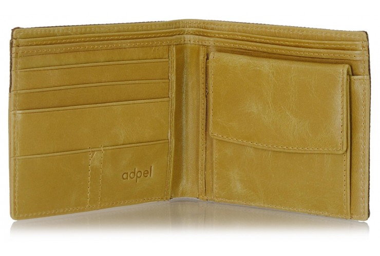 Pocket men's wallet leather-combination card coin Sesame/Taupe