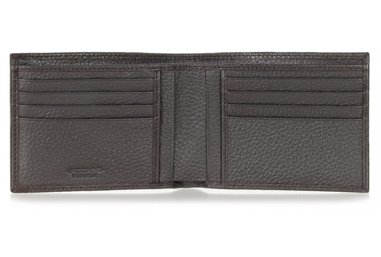 Portafoglio Anti RFID uomo pelle con 11c/c Cuoio/Marrone