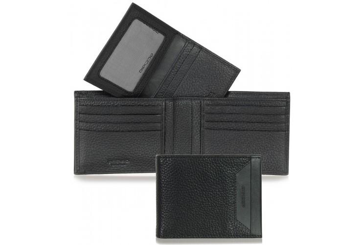 Portafoglio Anti RFID uomo pelle con 11c/c Nero