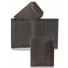 Portafoglio portacard da taschino in pelle 7c/c Marrone