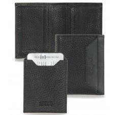 Men's small wallet full-leather multiple cards Black