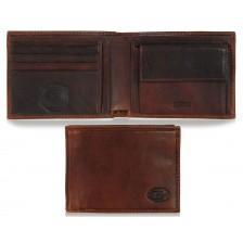 Portafoglio uomo colore castagno con 7 posti per carte di credito Castagno
