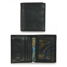 Men's leather 7 cards Black