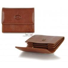 Portamonete a soffietto borsellino in pelle Vegetale Cognac/Stradivari