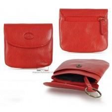 Portamonete borsellino portachiavi in pelle Vegetale Rosso