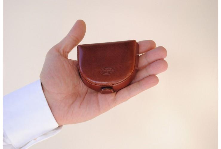 Münzbörse mini Geldbörse, pflanzlich italienische vachetta leder Braun