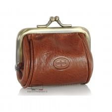 Portamonete clutch piccolo con cerniera, pelle Vegetale 8cm Stradivari/Cognac