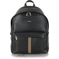 Leather Black Rucksack / Backpack for laptop up to 14''