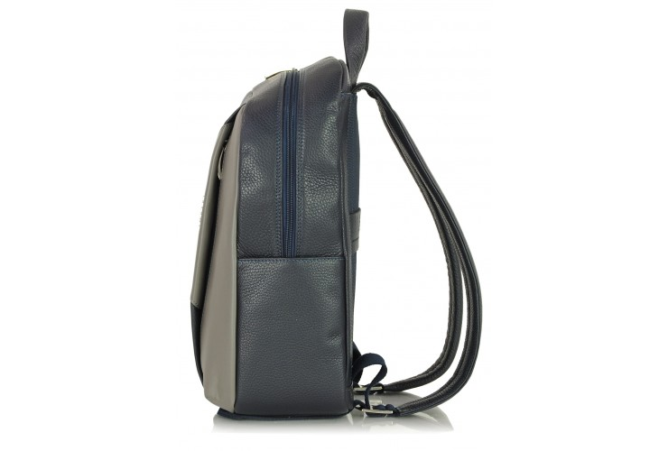 "Leather Backpack for laptop 14"" in leather Blue"