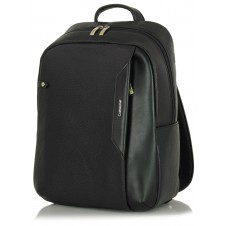 "Leather Backpack for laptop 14"" in leather Black"