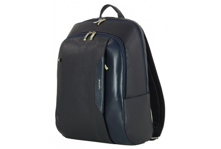 """Zaino porta computer 15.5"""" in pelle col. Blu/Blu"""