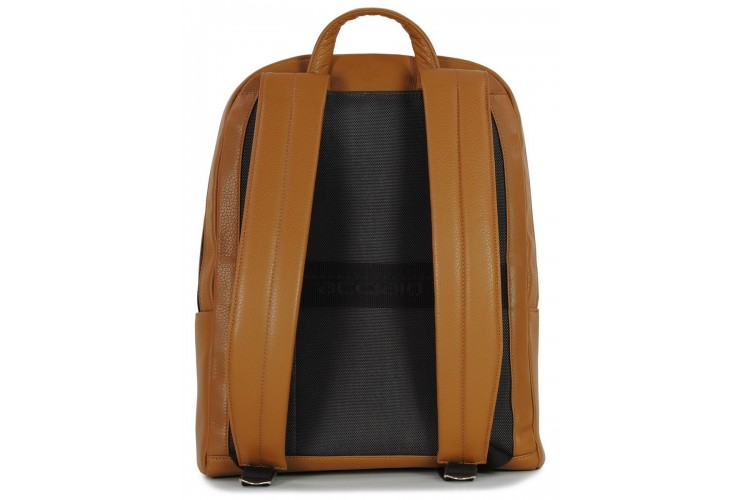 "Leather Backpack for laptop 15.5"" in leather Brown"