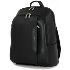 "Leather Backpack for laptop 15.5"" in leather Black"