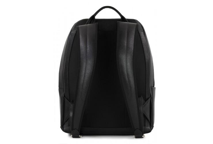Zaino porta computer 14'' in pelle saffiano Nero