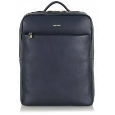 "Zaino in pelle Blu 13"" con vano tablet"