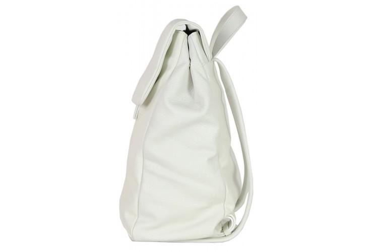 Zaino Sacca Donna in Pelle Bianco