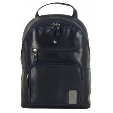 "Laptop Backpack Carnaby St. 13"" in leather Blue"
