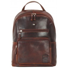 "Laptop Backpack Carnaby St. 13"" in leather Chestnut/Brown"