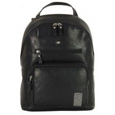 "Laptop Backpack Carnaby St. 13"" in leather Black"
